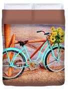 Route 66 Vintage Bicycle Duvet Cover