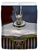 Rover Radiator And Hood Ornament Duvet Cover