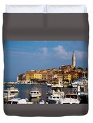 Rovinj Harbour Duvet Cover