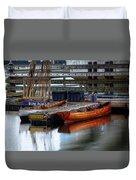 Row Boat Rental Duvet Cover