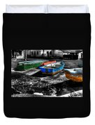Row Boats At Mudeford Duvet Cover