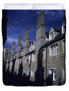 Row Houses Stand Huddled Together Duvet Cover