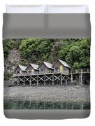 Row Of Camps Duvet Cover