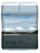 Row Of Clouds Duvet Cover