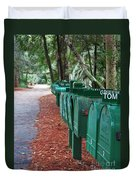 Row Of Green Mailboxes7426 Duvet Cover