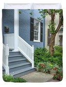Row Of Historic Row Houses Duvet Cover