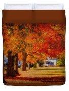 Row Of Maples Duvet Cover