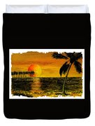 Row Of Palm Trees Duvet Cover