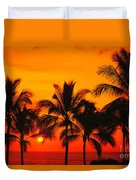Row Of Palms Duvet Cover
