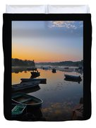 Rowboats At Rest Duvet Cover