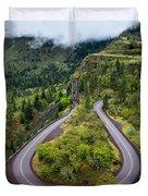 Rowena Crest Loops - Oregon Duvet Cover