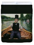 Rower In A Top Hat Duvet Cover