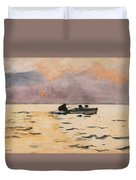 Rowing Home Duvet Cover by Winslow Homer