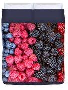 Rows Of  Berries  Duvet Cover