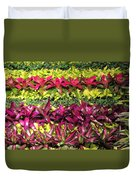 Rows Of Bromeliads Duvet Cover
