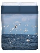 Royal Blue Ocean Tern Duvet Cover
