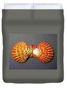 Royal Cloak Scallop Seashell  Duvet Cover