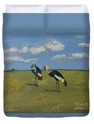 Royal Cranes Duvet Cover
