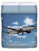 Royal Jordanian 787 Jy-baf Duvet Cover