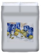Royal Lemons Duvet Cover