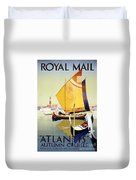 Royal Mail Atlantis Autumn Cruises Vintage Travel Poster Duvet Cover