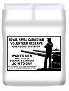Royal Naval Canadian Volunteer Reserve Duvet Cover by War Is Hell Store