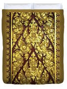 Royal Palace Gilded Door 02 Duvet Cover