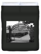 Royal Palm Gate Duvet Cover