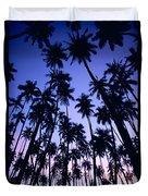 Royal Palm Grove Duvet Cover