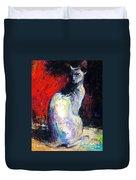 Royal Sphynx Cat Painting Duvet Cover by Svetlana Novikova