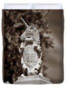 Royal Unicorn - Sepia Duvet Cover