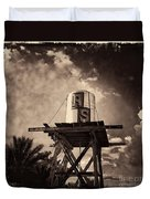 Rs Water Tower Sepia Duvet Cover
