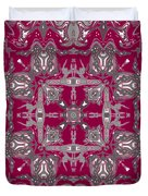 Rubies And Silver Kaleidoscope Duvet Cover