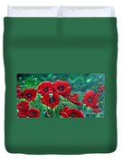 Rubies In The Emerald Forest Duvet Cover