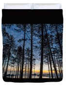 Ruby Beach Through The Trees Duvet Cover