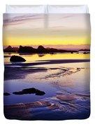 Ruby Beach Yellow Blue Duvet Cover