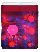 Ruby Blue Rays Duvet Cover
