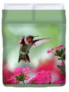 Ruby Garden Jewel Duvet Cover