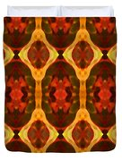 Ruby Glow Pattern Duvet Cover