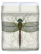 Ruby Meadowhawk Dragonfly Duvet Cover by Charles Harden