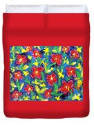 Ruby Reds.  Duvet Cover