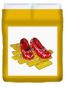 Ruby Slippers The Wizard Of Oz  Duvet Cover by Irina Sztukowski