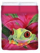 Ruby The Red Eyed Tree Frog Duvet Cover