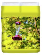 Ruby-throated Hummingbird 3 Duvet Cover
