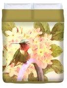 Ruby Throated Hummingbird Duvet Cover