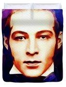 Rudolph Valentino, Vintage Movie Star Duvet Cover