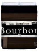 Rue Bourbon Street - New Orleans Duvet Cover