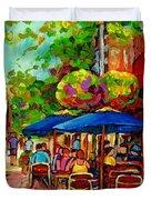 Rue Prince Arthur Montreal Duvet Cover