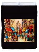 Rue St Jacques Old Montreal Streets  Duvet Cover