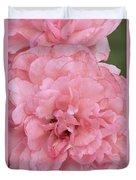 Ruffled Pink Rose Duvet Cover